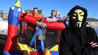 Last To Leave Giant Bounce house wins vs the project Zorgo hacker