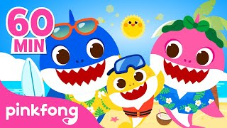 Baby Shark Summer Remix and more   Shark Family Special   +Compilation   Pinkfong Songs for Children