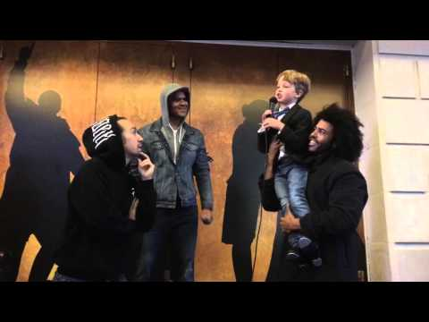 Iain performs at #Ham4Ham with Lin-Manuel Miranda, Daveed Diggs and Christopher Jackson!