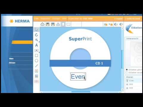 HERMA CD- / DVD-Etiketten + Positionierhilfe