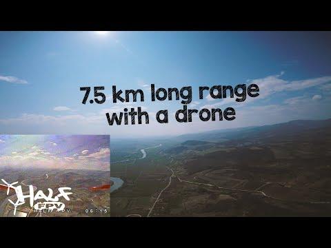 "Drone 7.5 km long range   TBS Unify 800 mw   Crossfire   HQ 7x3.5x3   7""   F40 pro II 1600 kv"
