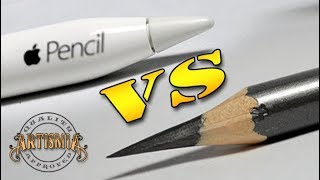 Apple Pencil VS A Real Pencil ~ Artismia Drawing ( iPad Pro & Paper by 53 )