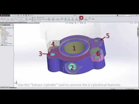 How to Reverse Engineer a Flange using Geomagic for Solidworks
