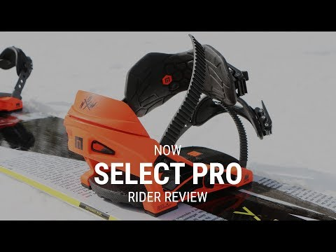 NOW Select Pro 2019 Snowboard Binding Rider Review – Tactics.com