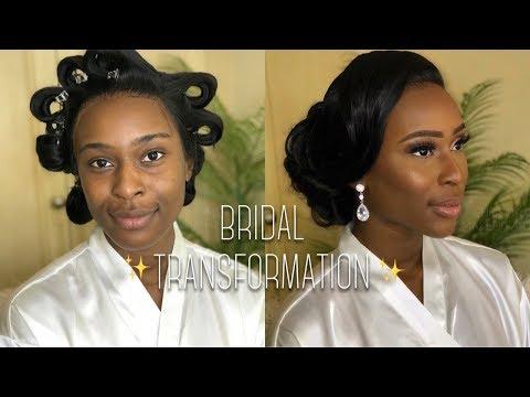 BRIDAL HAIR & MAKEUP TRANSFORMATION FT WIGGINS HAIR