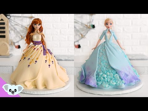 FROZEN 2 Princess Doll Cake - Amazing Elsa and Anna Cake Ideas | How To | Koalipops
