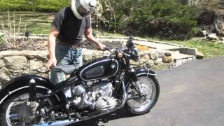 Stored & forgotten Triple matched # 1968 BMW R69S Motorcycle