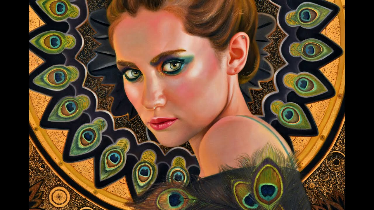 surreal portrait painting tutorial time lapse by veronica winters