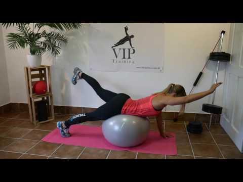 Gymnastik Ball Übungen - Muskelaufbau - Fettverbrennung - Ganzkörper Workout