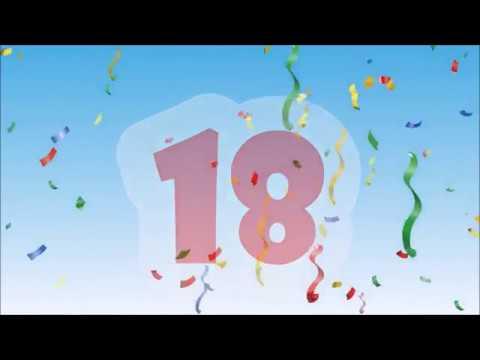 Herzlichen Glückwunsch zum Geburtstag - 18 Jahre