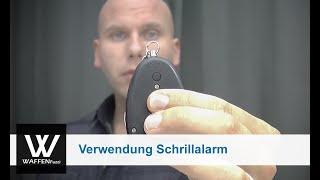 Schrillalarm, Taschenalarm, Personalalarm, Verwendung des Schrillalarm, www.waffenfuzzi.de