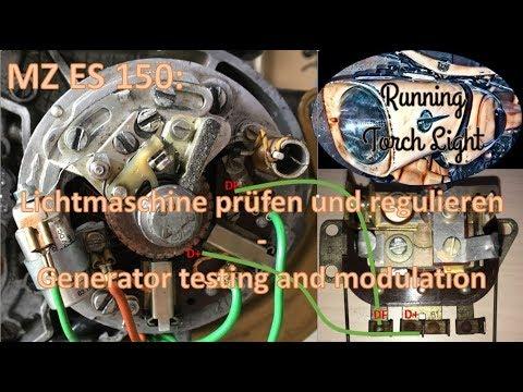 MZ ES 150: Lichtmaschine und Regler - Generator and Modulator