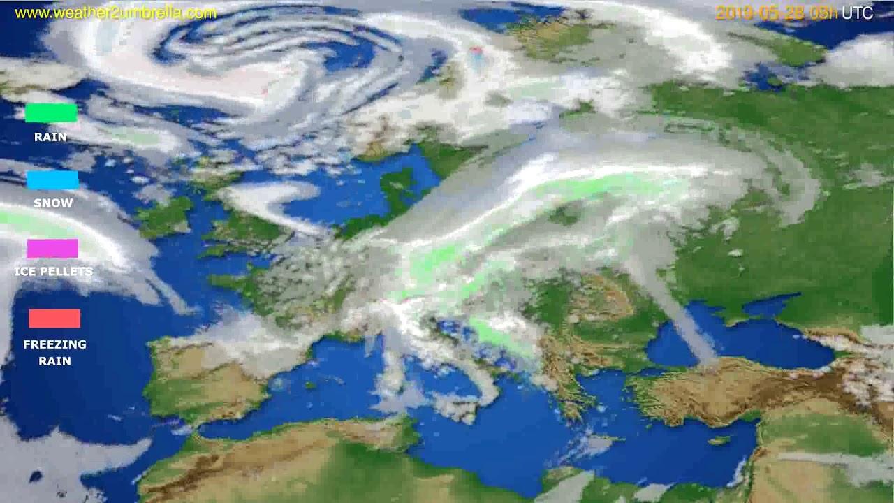 Precipitation forecast Europe // modelrun: 12h UTC 2019-05-26