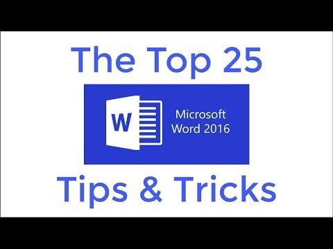 Top 25 Word 2016 Tipps und Tricks