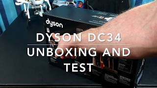DYSON DC34 vacuum unboxing and test (best you can get)