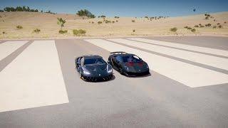 Lamborghini CENTENARIO Vs SESTO ELEMENTO Drag Race Forza Horizon 3