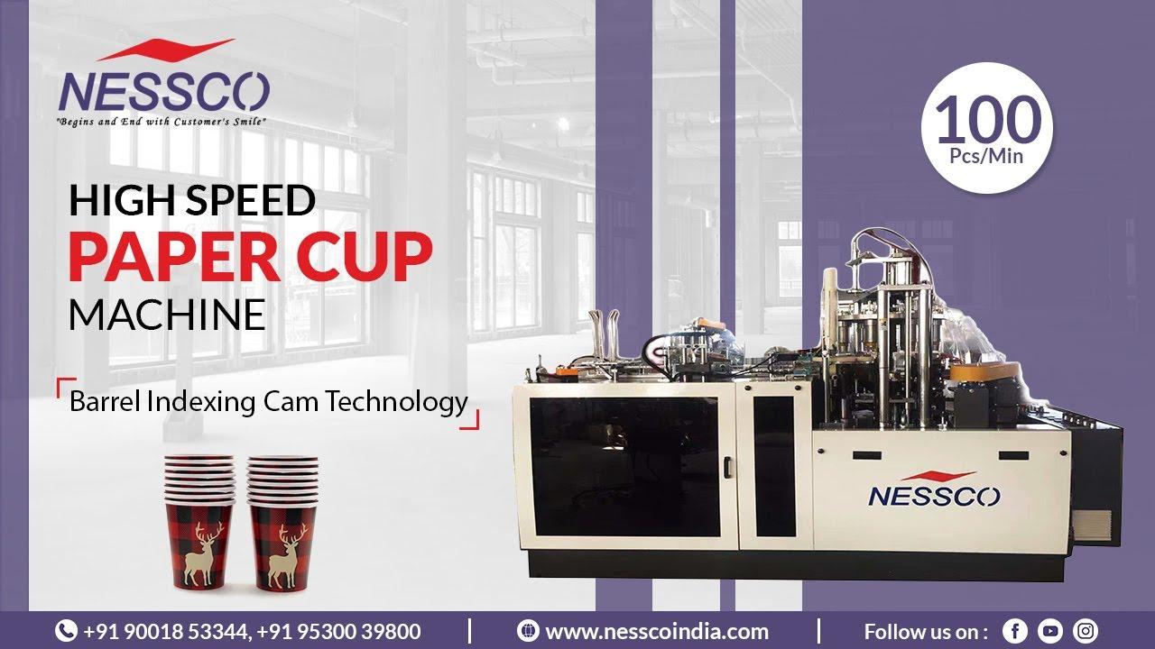 HIGH SPEED PAPER CUP MACHINE 100 PCS/MIN