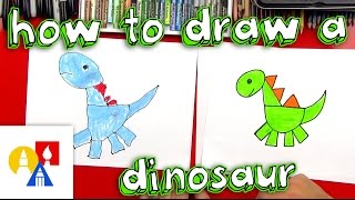 How To Draw A Dinosaur With Shapes