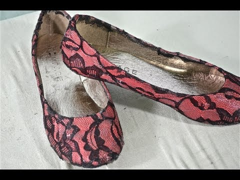 (Lace) How to turn your plain shoes into fabulous lace flats!