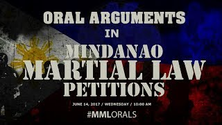 Oral Arguments in Mindanao Martial Law Petitions - Day 2, 10:00AM
