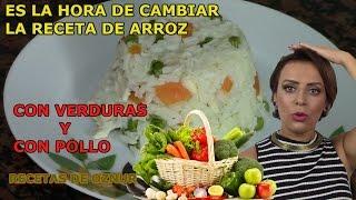ARROZ CON VERDURAS Y POLLO | recetas de cocina faciles rapidas y economicas de hacer - comidas ricas