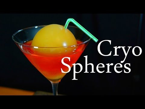 Video Make Edible Ice Spheres With Cryogenic Liquid