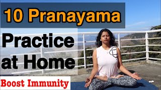 10 Pranayama sequence (order) to Practice at home Step by step with demonstration #pranayama