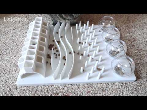 Cats Try The Trixie 5-In-1 Activity Center Fun Board For Cats For The First Time