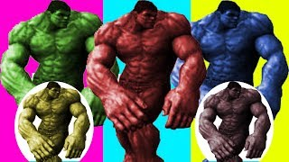 Cartoons to Childrens - Hulk dancing to temperature with Finger Family Songs