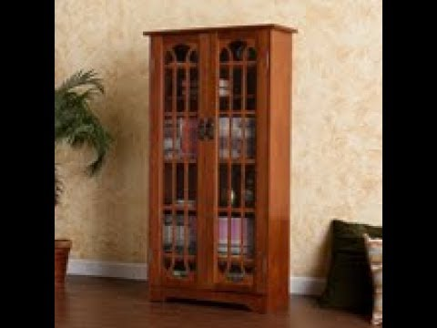 Video for Oak Window Pane Media Cabinet