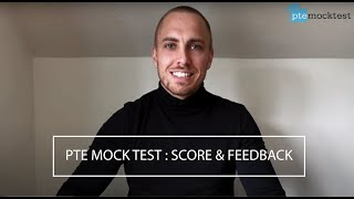 PTE Mock Test : Feedback and Scored Card