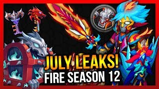 "Knights and Dragons - ""NEW"" JULY LEAKS!! Dragon Chests, Taurus Pet, Season 12 Shadowforged!!"