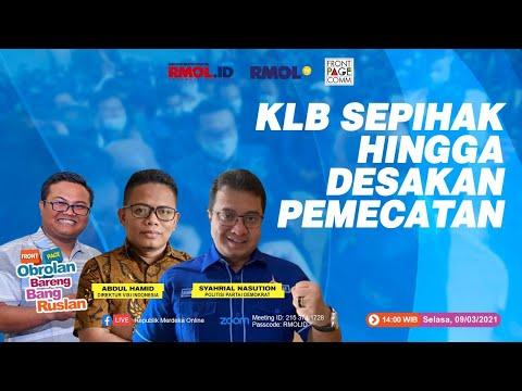 Obrolan Bareng Bang Ruslan, bersama: Syahrial Nasution dan Abdul Hamid