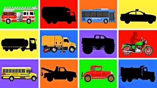 Street Vehicles Game for Kids - Learn Cars Trucks Names Sounds - Fun & Educational Organic Learning