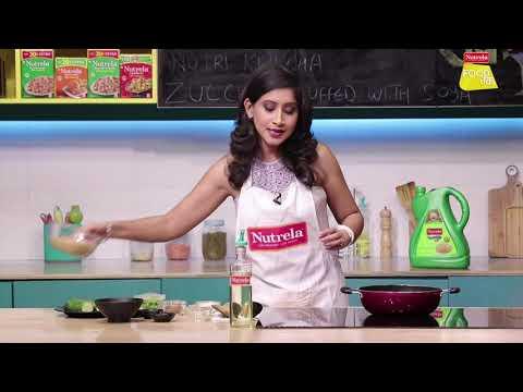 Nutrela Soya Stuffed Zucchini