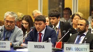 Выступление  Файзулло Сафарова на конференции ОБСЕ - 2017