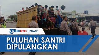 Cegah Penularan Covid-19, Personel TNI, Polri, & Pol PP Pulangkan Puluhan Santri yang akan Ikut Haul