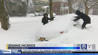 Rochester winter warriors shovel out after snow storm