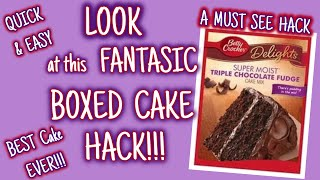 LOOK At This FANTASTIC BOXED CAKE HACK | BEST CAKE EVER!!!! | QUICK & EASY | MUST SEE HACK!!!