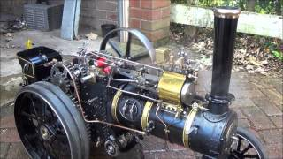 """Fowler A7 2"""" Scale Tractione Engine First Steaming"""