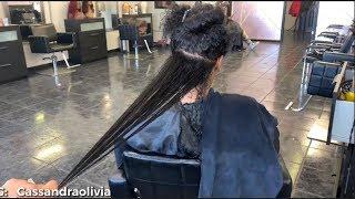 Silk Wrap On Extremely Long Hair | Silk Wrap On Long Natural Hair