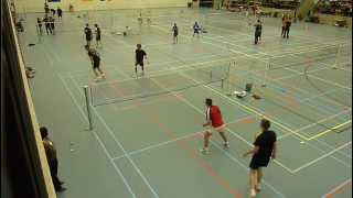 preview picture of video 'Badminton BC Tielt- B2 MD Final (2nd match game 2)'