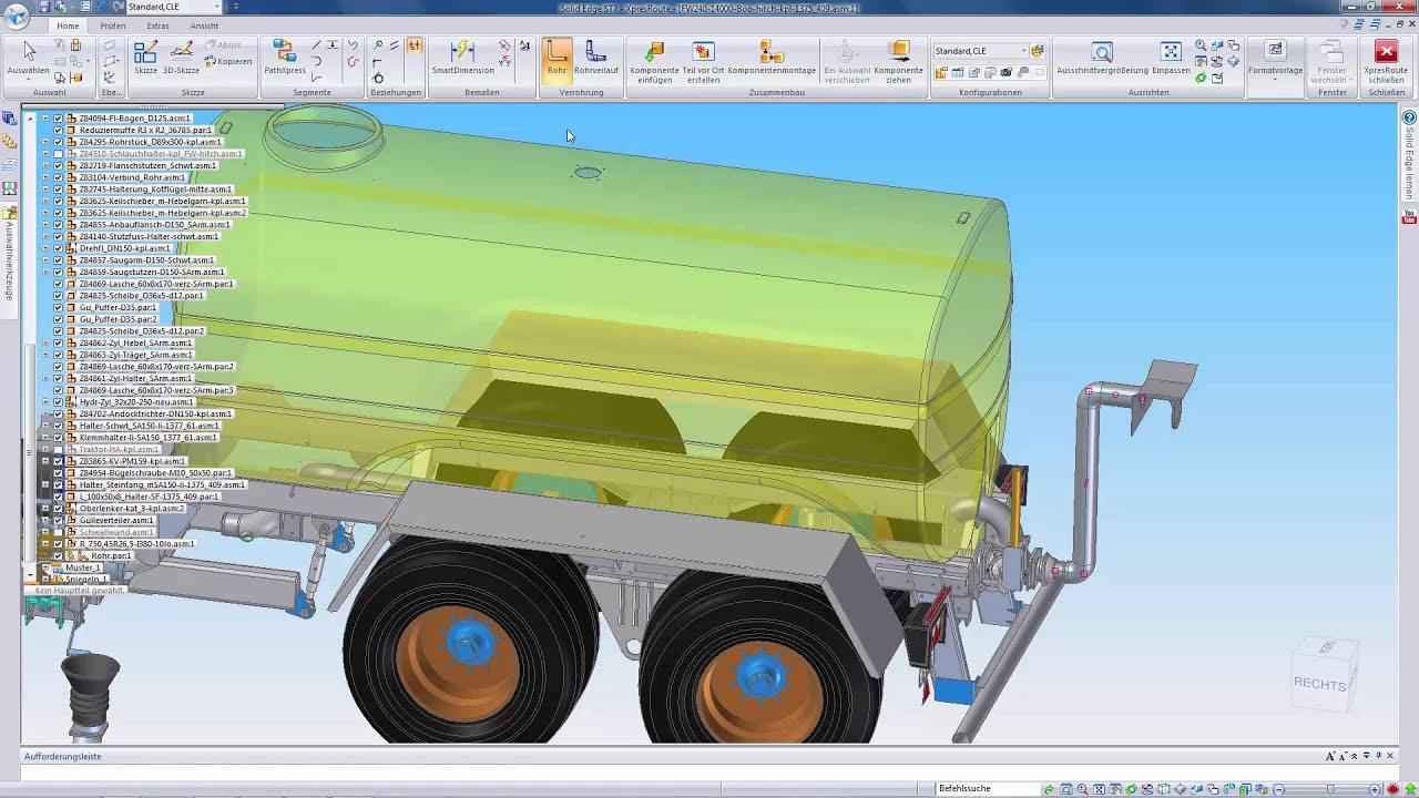 Vorschaubild: Solid Edge: Konstruktion eines Fasswagens