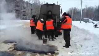 Как кладут асфальт зимой в России