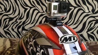 preview picture of video 'GoPro Curved Mount - Motorcycle Helmet'