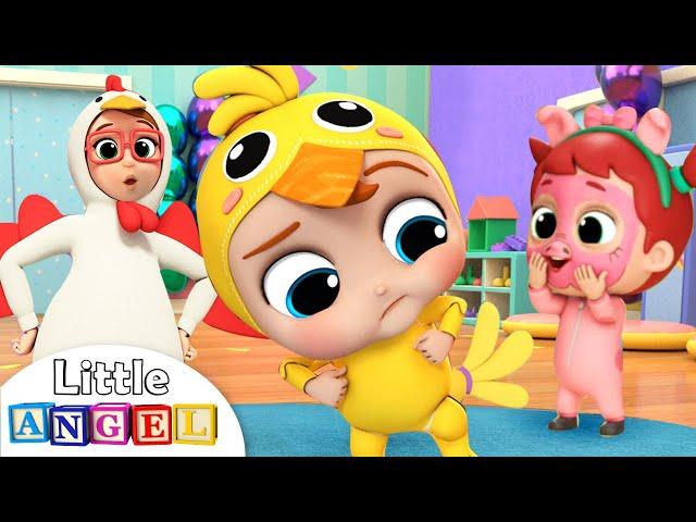Baby John Does the Chicken Dance   Little Angel Nursery Rhymes & Kids Songs