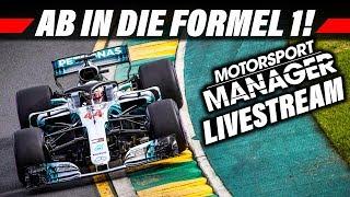 MOTORSPORT MANAGER Livestream Deutsch | F1 MOD Karriere | Live Lets Play German