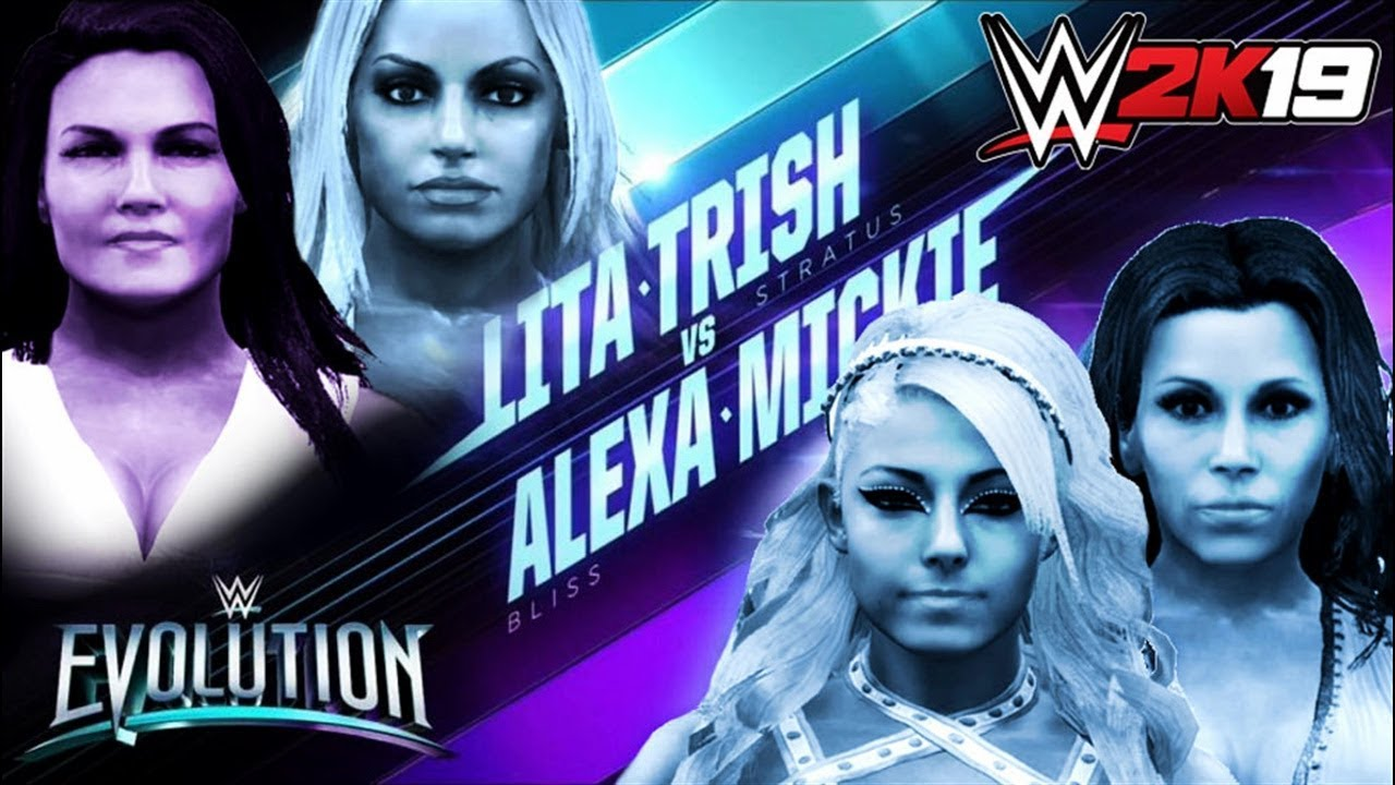 Trish Stratus & Lita vs. Alexa Bliss & Mickie James: WWE 2K19 tag team match simulation