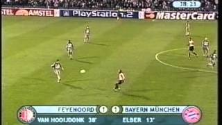 2001 October 10 Feyenoord Holland 2 Bayern Munich Germany 2 Champions League