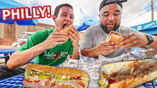 The Ultimate PHILADELPHIA FOOD TOUR!! Hoagies, Cheese Steak + Best Local Philly Food!!